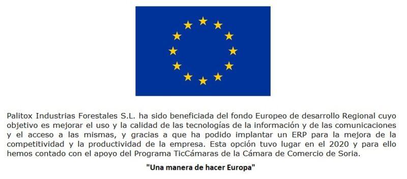 Unión europea Fondos Feder
